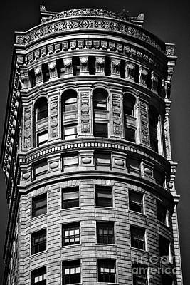 Historic Building In San Francisco - Black And White Poster by Hideaki Sakurai