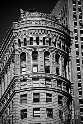 Historic Building In San Francisco Ll - Black And White Poster by Hideaki Sakurai