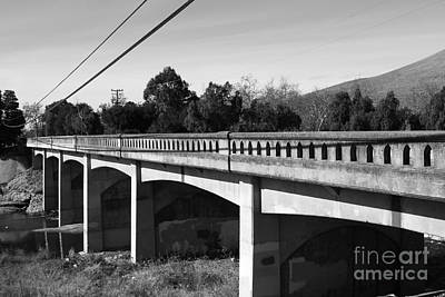 Historic Niles District In California Near Fremont . Bridge Into Niles District . 7d10596 . Black An Poster