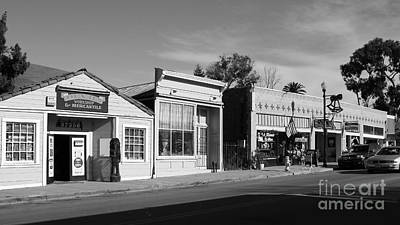 Historic Niles District In California Near Fremont . Main Street . Niles Boulevard . 7d10676  . Bw Poster by Wingsdomain Art and Photography