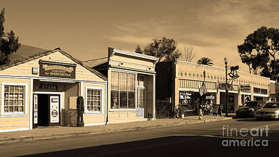Historic Niles District In California Near Fremont . Main Street . Niles Boulevard . 7d10676 . Sepia Poster by Wingsdomain Art and Photography