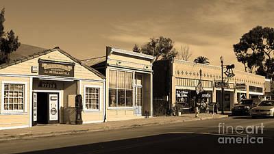 Historic Niles District In California Near Fremont . Main Street . Niles Boulevard . 7d10676 . Sepia Poster