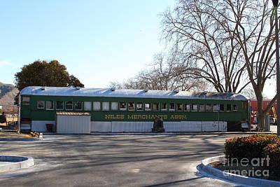 Historic Niles District In California Near Fremont . Niles Merchants Association Train Office . 7d10 Poster
