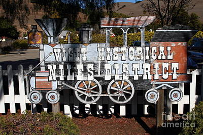 Historic Niles District In California Near Fremont . Visit Historical Niles District Sign . 7d10653 Poster