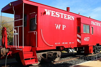 Historic Niles District In California Near Fremont . Western Pacific Caboose Train . 7d10627 Poster by Wingsdomain Art and Photography