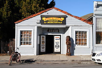 Historic Niles District In California.motorized Bike Outside Devils Workshop And Mercantile.7d12727 Poster