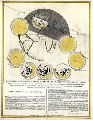 Historical Artwork Of A Solar Eclipse Poster by Library Of Congress