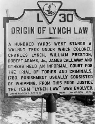 Historical Road Marker In Virginia Poster by Everett