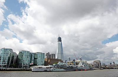 Hms Belfast And Shard Poster