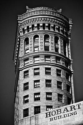 Hobart Building In San Francisco Ll - Black And White Poster by Hideaki Sakurai