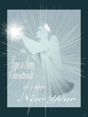 Holiday Card Angel  Poster