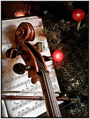 Albuquerque, New Mexico - Holiday Cello Poster