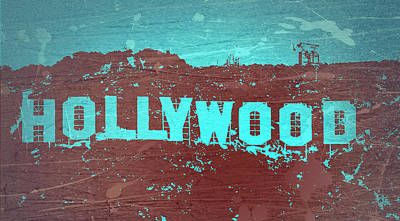 Hollywood Sign Poster by Naxart Studio