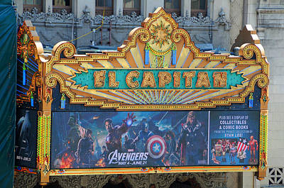 Hollywood's El Capitan Theatre Poster