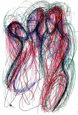 Homoline #30. Three Figures Poster by Alfredo Gonzalez
