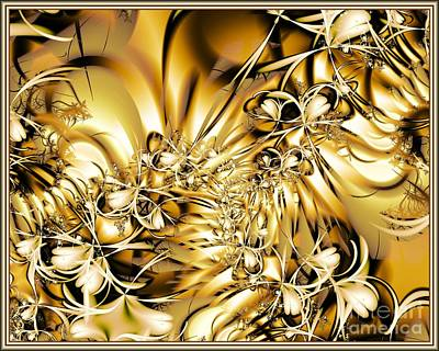 Poster featuring the digital art Honeysuckle Gold by Michelle H
