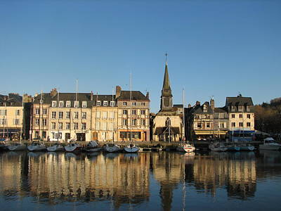 Poster featuring the photograph Honfleur  by Carla Parris