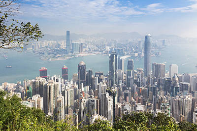 Hong Kong, China Overall View Poster