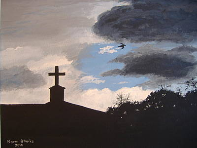 Poster featuring the painting Hope In The Storm by Norm Starks