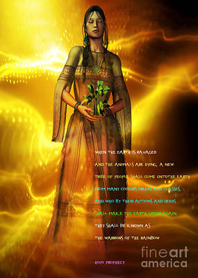 Poster featuring the digital art Hopi Prophecy by Shadowlea Is