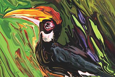 Hornbill Poster by Rabi Khan