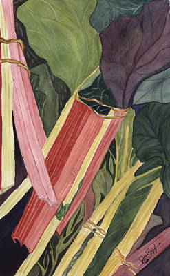 Poster featuring the painting Hornby's Rhubarb Pie by Joan Zepf