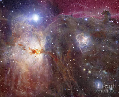 Horsehead Nebula Region In Infrared Poster