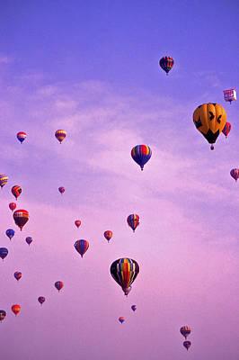 Hot Air Balloon Race - 1 Poster by Randy Muir