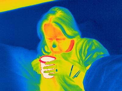 Hot Drink, Thermogram Poster
