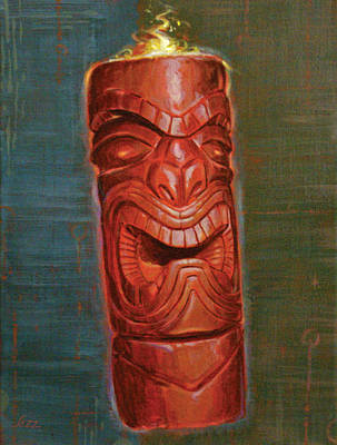 Hot Headed Tiki Poster by Shawn Shea