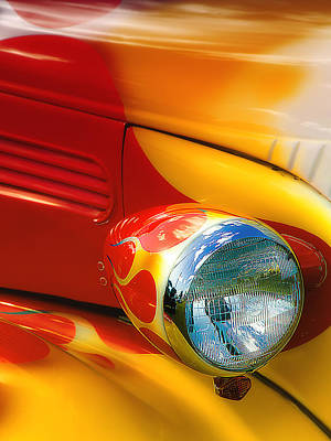 Hot Rod Rgb 01 Poster by Kevin Chippindall