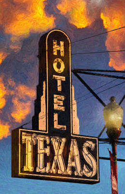Hotel Texas Poster by Jeff Steed