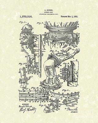 Houdini Divers Suit 1921 Patent Art Poster