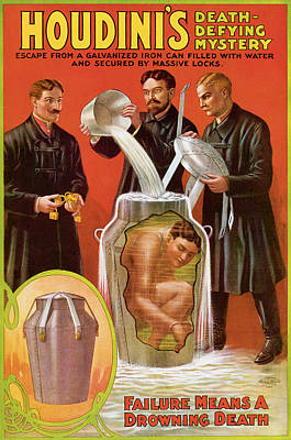 Houdini's Death Defying Mystery Poster by Unknown