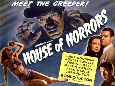 House Of Horrors, Rondo Hatton Poster