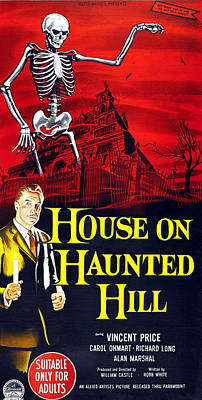 House On Haunted Hill, Bottom Left Poster by Everett