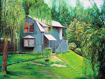 Poster featuring the painting House Woodstock Ny by Stuart B Yaeger