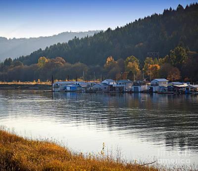 Houseboats On Sauvie Island, Oregon Poster