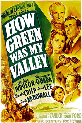 How Green Was My Valley, Donald Crisp Poster by Everett