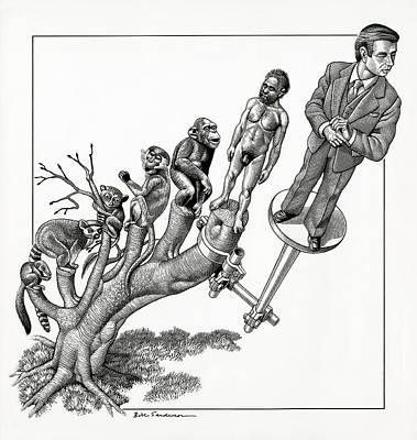 Human Evolution, Conceptual Artwork Poster