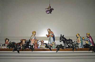 Hummel Nativity Set Poster by Sally Weigand