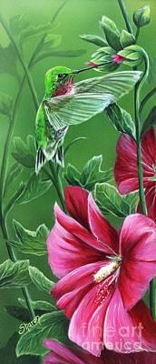 Hummingbird Poster by Sharon Molinaro