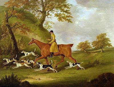 Huntsman And Hounds Poster by John Nott Sartorius