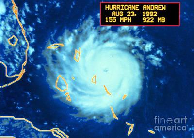Hurricane Andrew, Maximum Intensity Poster