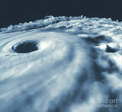 Hurricane Diana From Above Poster