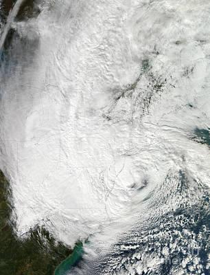 Hurricane Sandy Making Landfall Poster