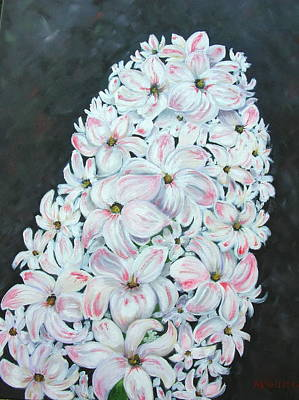 Poster featuring the painting Hyacinth by Mary Kay Holladay