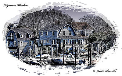 Poster featuring the photograph Hyannis Harbor Greetings by Jack Torcello