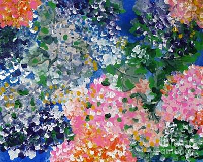 Poster featuring the painting Hydrangeas I by Alys Caviness-Gober