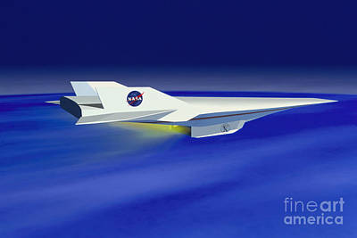 Hyper-x Hypersonic Aircraft Poster by Science Source